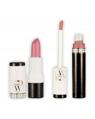 【Miss W】有機礦物唇蜜.淡粉裸+任選礦物唇膏〈特價580元〉