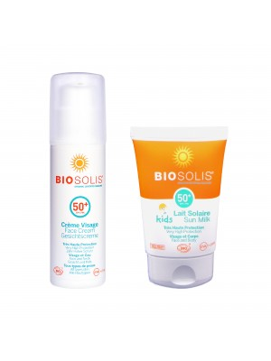 親子夏日防曬優惠組【Biosolis】臉部高效防曬隔離乳 SPF50+ 50ml(2022. 03)+寶貝高效防曬乳SPF50+ 50ml