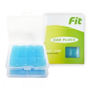 【FIT】矽膠耳塞〈藍色.24入〉舒適無痛/柔軟可塑/隔音防噪/睡眠 工作 讀書 游泳 飛行 皆適用(內附收納盒)
