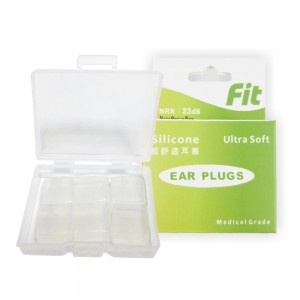 【FIT】矽膠耳塞〈白色.6入〉舒適無痛/柔軟可塑/隔音防噪/睡眠 工作 讀書 游泳 飛行 皆適用(內附收納盒)